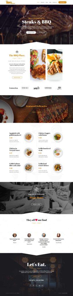 restaurant barbecue site internet bbq grill