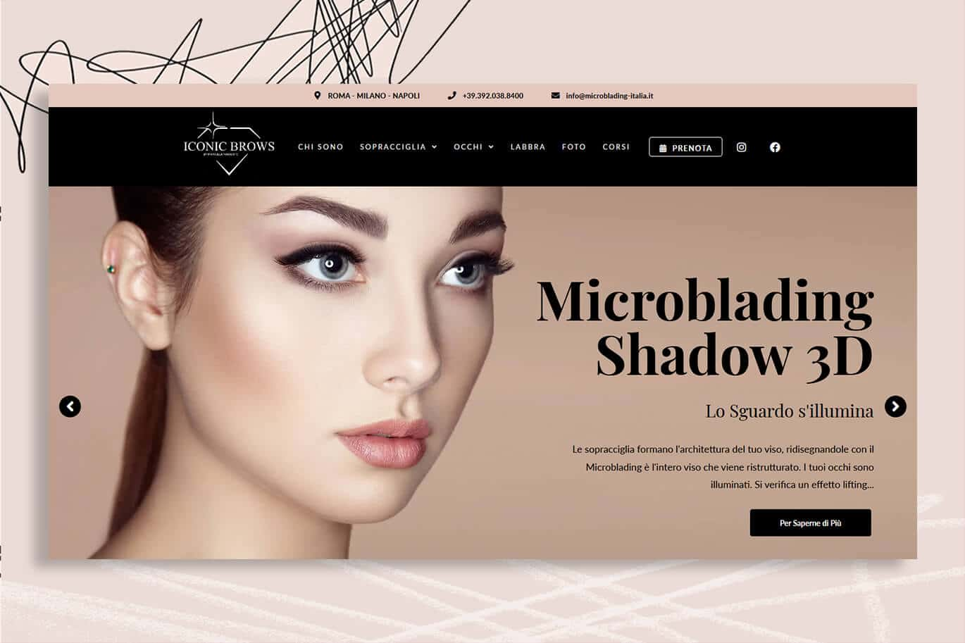 Sito Internet Microblading iconic brows