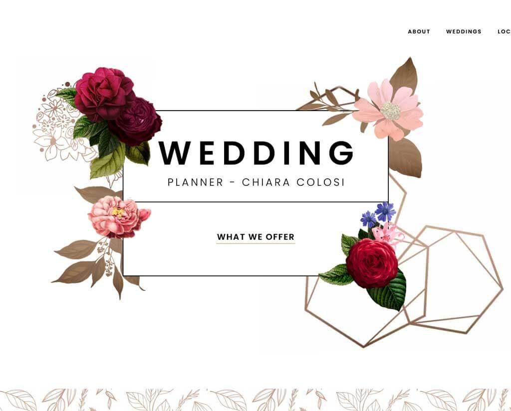 Website for Wedding Planner BL DIGITAL