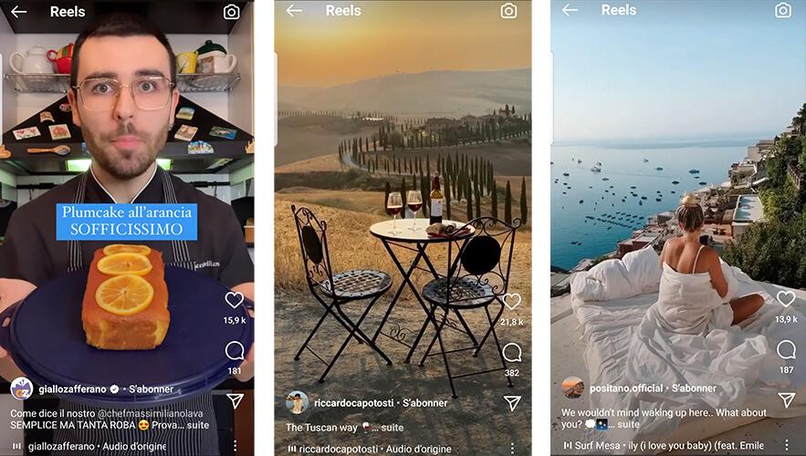 Instagram Reels esempi